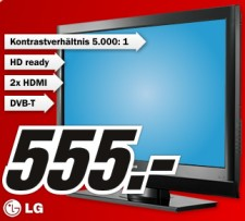 media markt lg 37 lc 55 37 zoll lcd fernseher mit dvb t. Black Bedroom Furniture Sets. Home Design Ideas